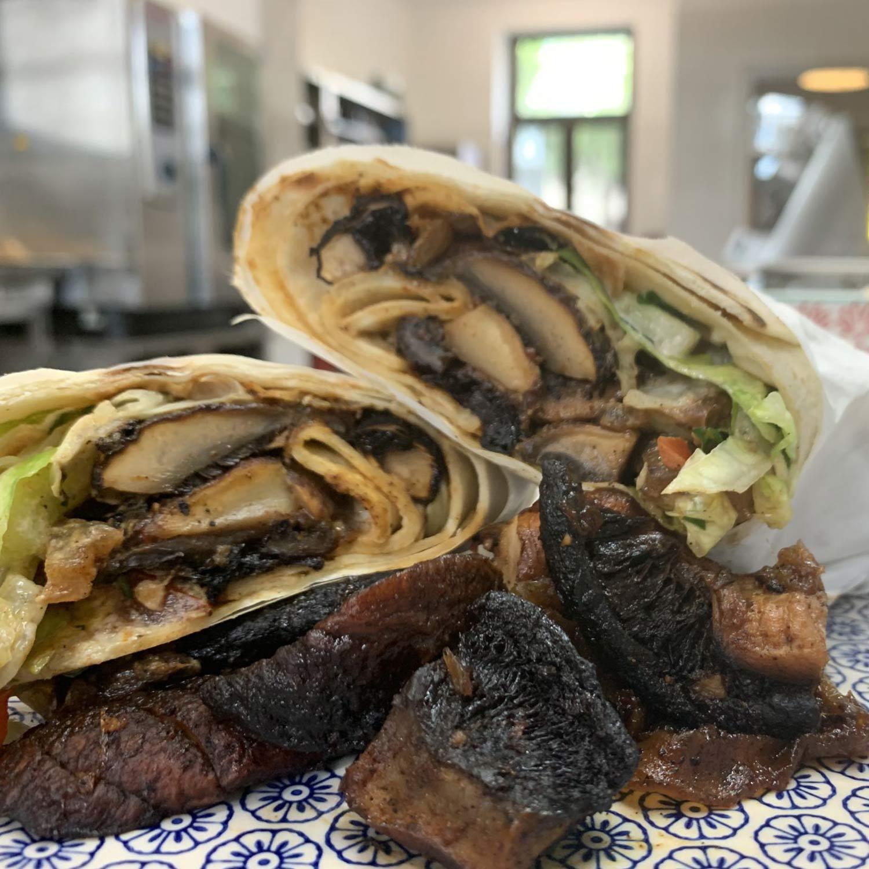 MUSHROOM-SHAWARMA Sandwich
