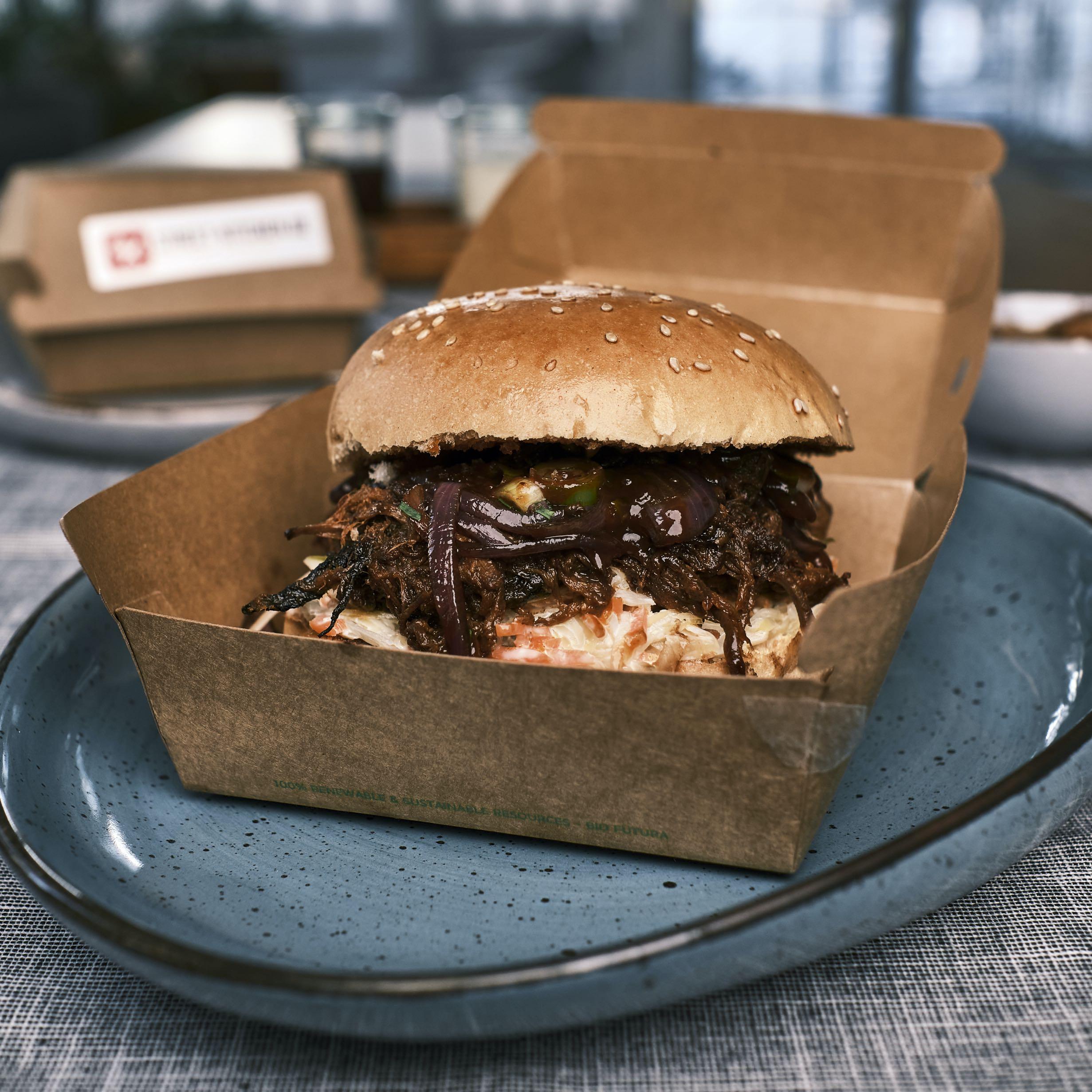 Pulled Beef Burger – OLDSCHOOL