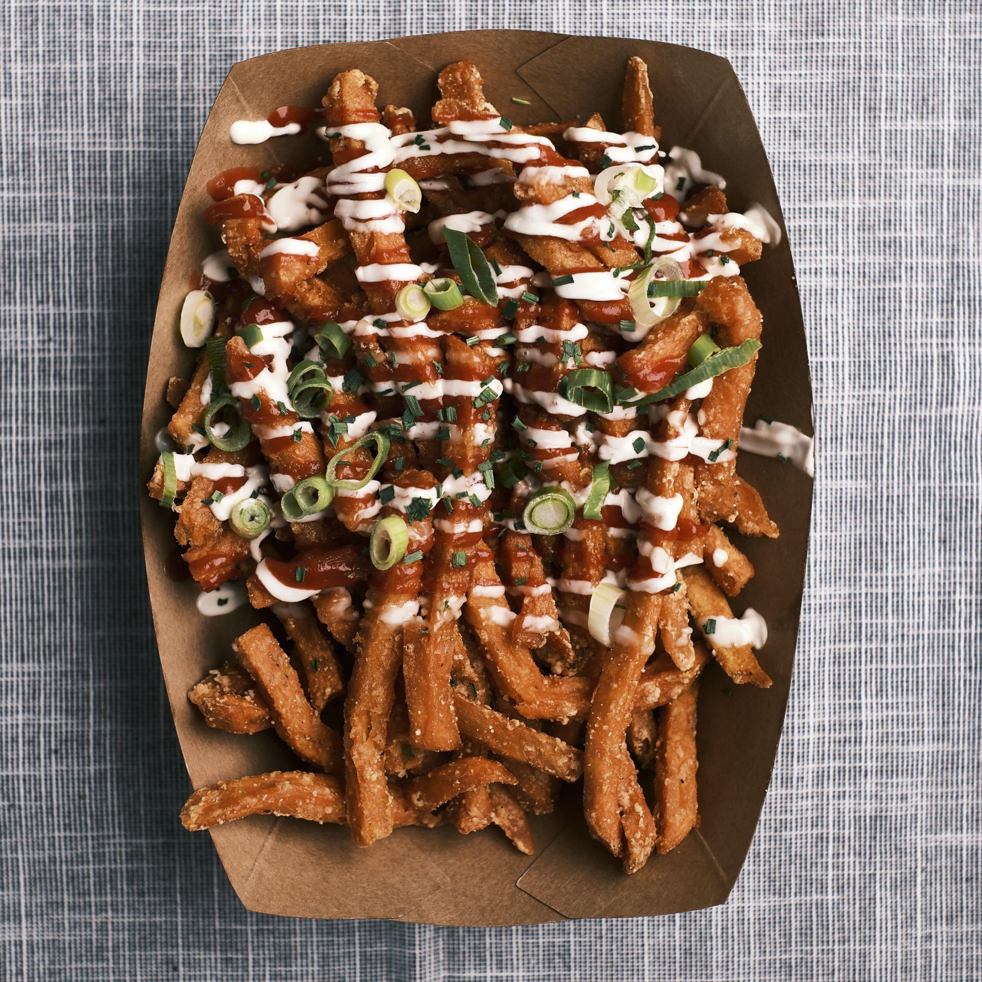 Sweet Potato Fries Rot/Weiß