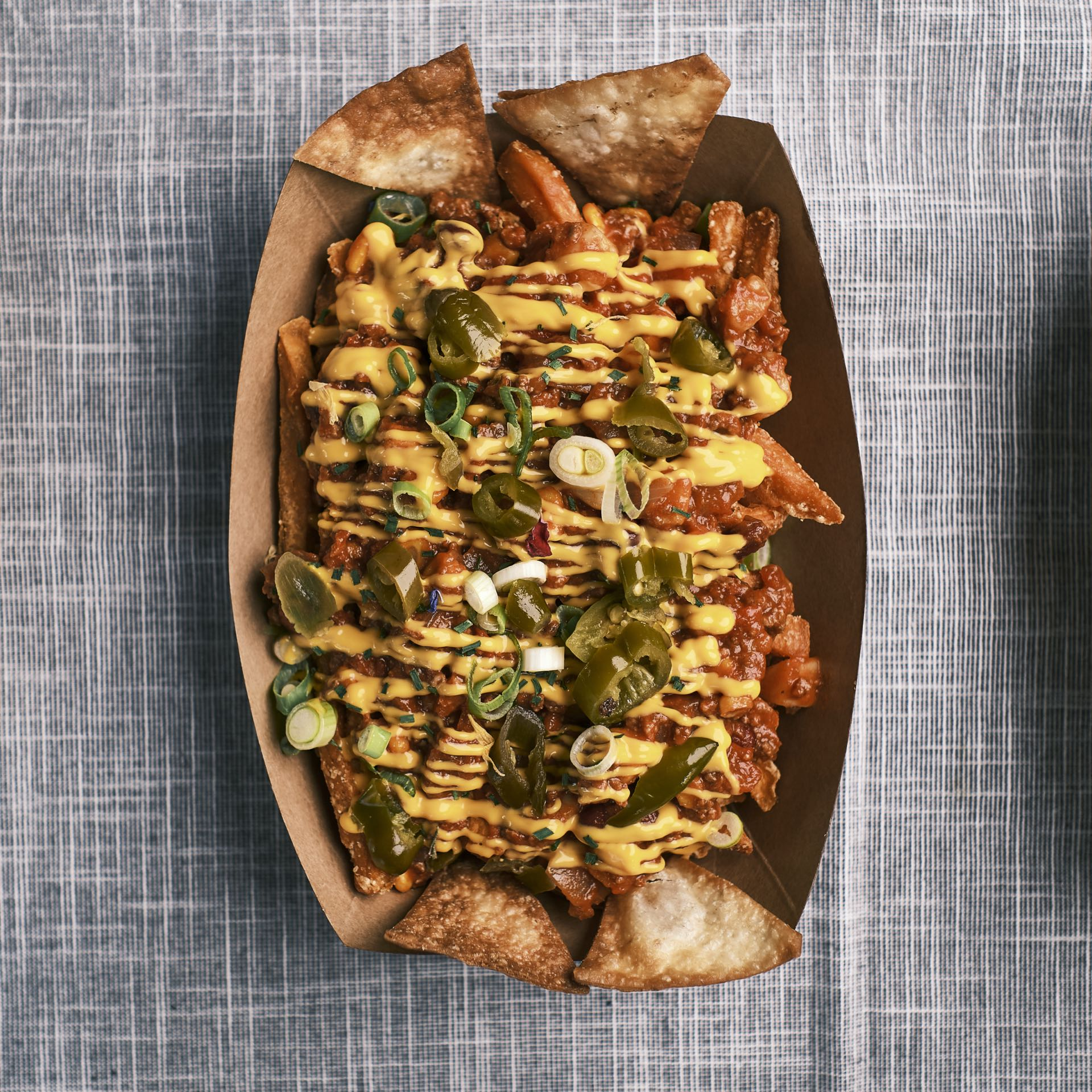 Sweet Potato Chili Cheese Fries